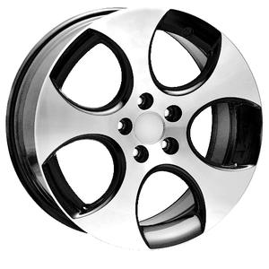 jantes alu gti vb black polie pour volkswagen golf 5 moins ch res chez auto look perfect. Black Bedroom Furniture Sets. Home Design Ideas