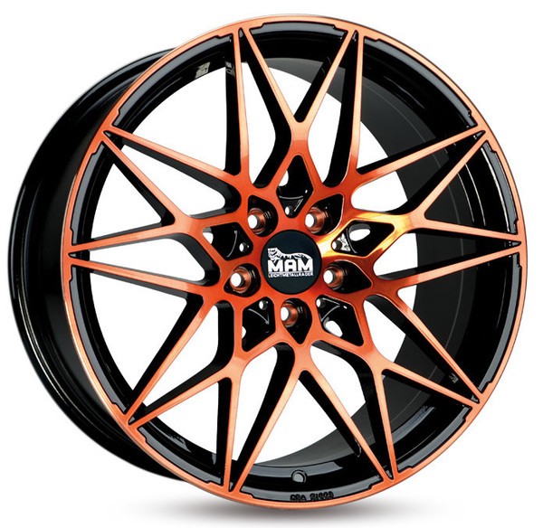 Jante Mam B2 Black Front Orange pour Audi A3 8P 2004- par Auto Look Perfect