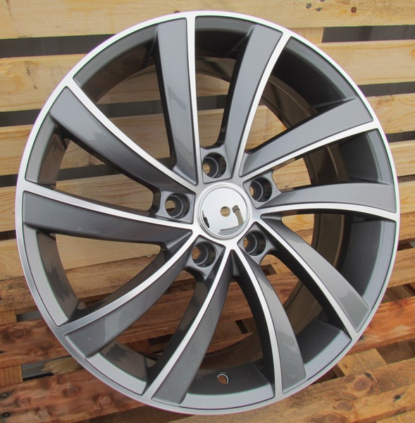 Jante Skoda SK523 Gunmetal Polished pour Audi A3 8P 2004- par Auto Look Perfect