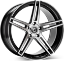 Wrath Wheels WF1 Gloss Black Polished Face